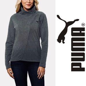 Puma Womens Asymmetrical Zip-Up Jacket Sz M